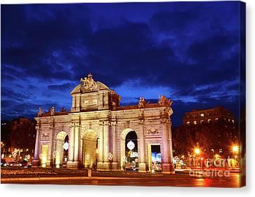 Puerta De Alcala Madrid Spain Canvas Print by James Brunker