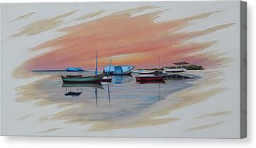 Puerto Progreso Iv Canvas Print by Angel Ortiz