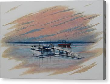 Puerto Progreso Ill Canvas Print by Angel Ortiz