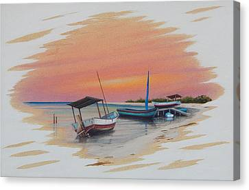 Puerto Progreso V Canvas Print by Angel Ortiz