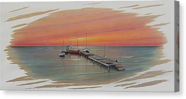Puerto Progreso Vl  Canvas Print by Angel Ortiz