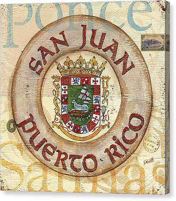 Puerto Rico Coat Of Arms Canvas Print by Debbie DeWitt