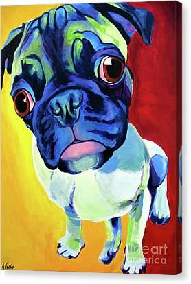 Pug - Lola Canvas Print by Alicia VanNoy Call
