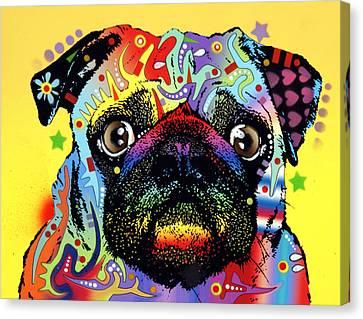 Pug Canvas Print by Dean Russo