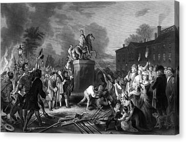 Pulling Down The Statue Of George IIi Canvas Print by War Is Hell Store