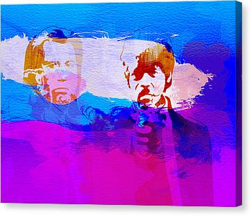 Pulp Fiction Canvas Print by Naxart Studio