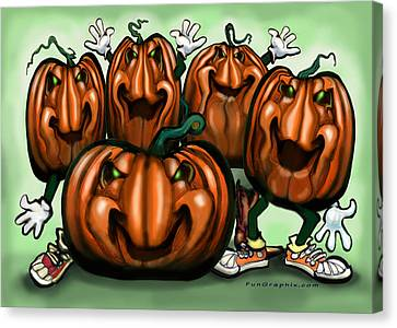 Pumpkin Party Canvas Print by Kevin Middleton