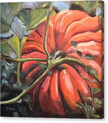 Pumpkin Patch Canvas Print by Donna Tuten