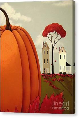 Pumpkin Valley Canvas Print by Catherine Holman