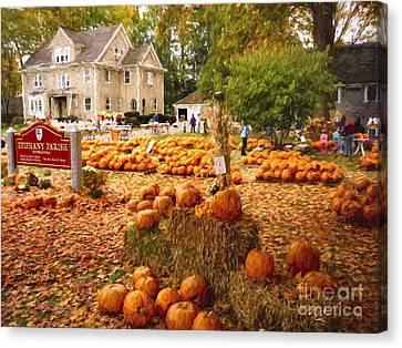 Pumpkins For Sale Canvas Print by Garland Johnson