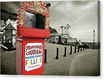 Punch And Judy Theatre On Llandudno Promenade Canvas Print by Mal Bray