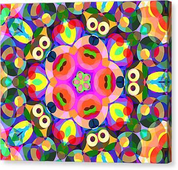 Puppy Eyes Canvas Print by Shawna Rowe