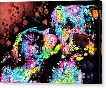 Puppy Love Canvas Print by Dean Russo