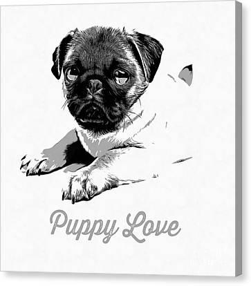 Puppy Love Canvas Print by Edward Fielding