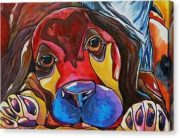 Puppy Love Canvas Print by Patti Schermerhorn