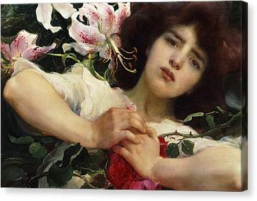 Purity And Passion Canvas Print by Franz Dvorak