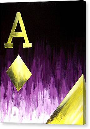 Purple Aces Poker Art2of4 Canvas Print by Teo Alfonso