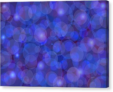 Purple And Blue Abstract Canvas Print by Frank Tschakert