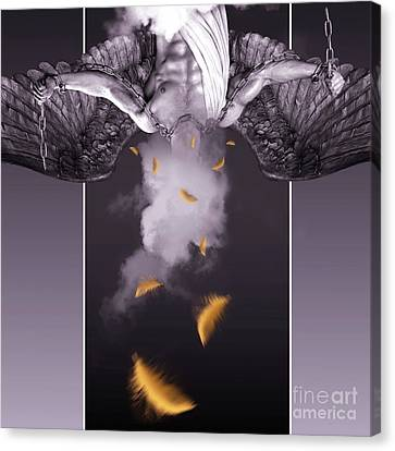 Purple  Angel  Canvas Print by Mark Ashkenazi