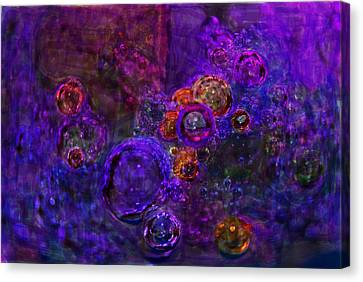 Purple Bubbles Painting Canvas Print by Don  Wright