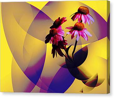 Purple Coneflowers Canvas Print by Patricia Motley