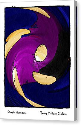 Canvas Print featuring the digital art Purple Hurricane by Terry Mulligan