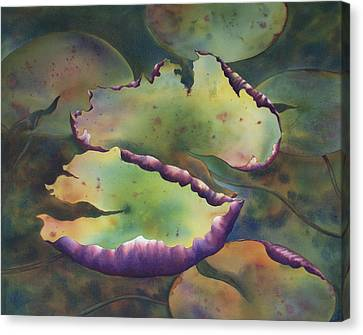 Purple Linings I Canvas Print by Johanna Axelrod