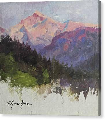 Purple Majesty Plein Air Study Canvas Print by Anna Rose Bain