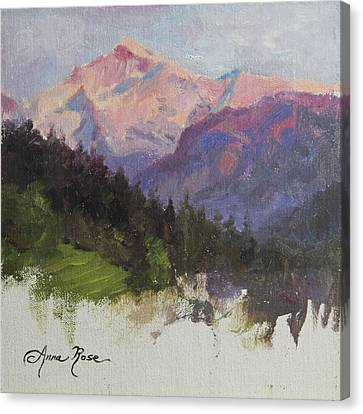 Purple Majesty Plein Air Study Canvas Print by Anna Rose Bain