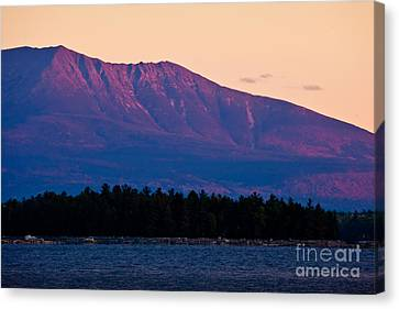 Purple Mountains Majesty Canvas Print by Susan Cole Kelly