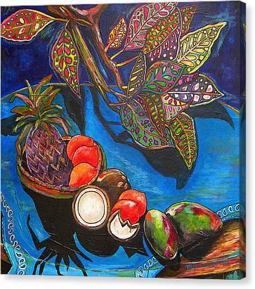 Purple Pineapple Canvas Print by Patti Schermerhorn