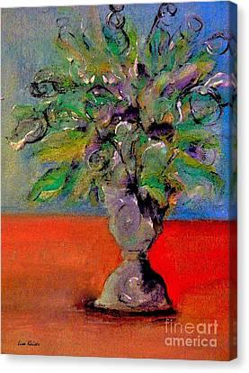Purple Pot Spray Canvas Print by Lisa Kaiser