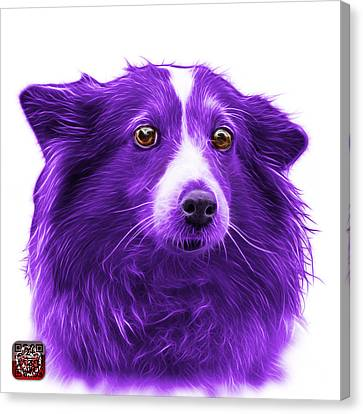 Purple Shetland Sheepdog Dog Art 9973 - Wb Canvas Print by James Ahn