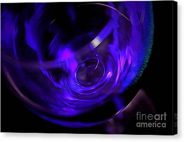 Purple Wine Canvas Print by Krissy Katsimbras