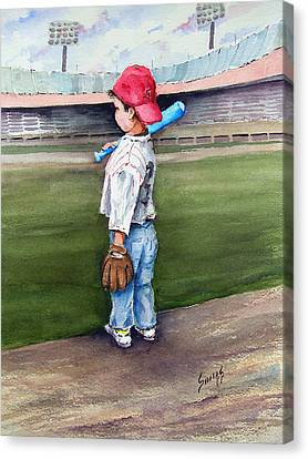 Put Me In Coach  Canvas Print by Sam Sidders