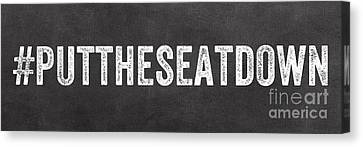 Put The Seat Down Canvas Print by Linda Woods