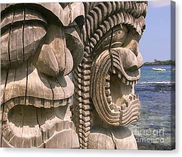 Puuhonua O Honaunau Canvas Print by Ron Dahlquist - Printscapes