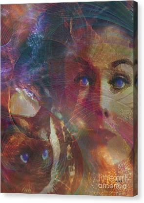 Pyewacket And Gillian Canvas Print by John Robert Beck