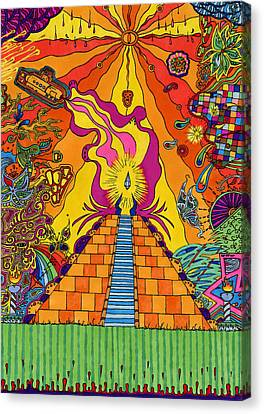 Pyramid Canvas Print by Evan Purcell