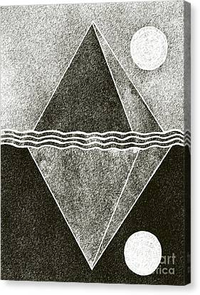 Pyramid Space And Time Canvas Print by Norma Appleton