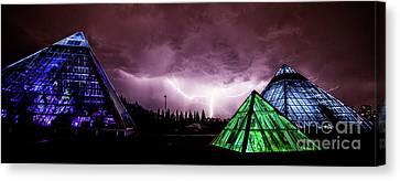 Pyramid Storm Canvas Print by Ian MacDonald