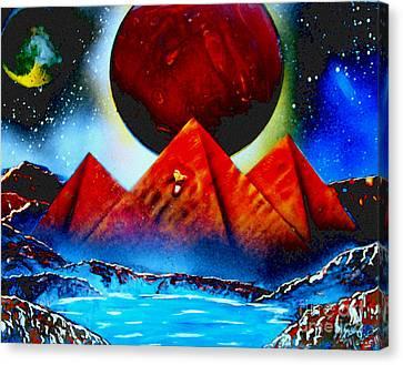 Pyramids 4663 E Canvas Print by Greg Moores