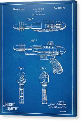 Pyrotomic Disintegrator Pistol Patent Canvas Print by Nikki Marie Smith