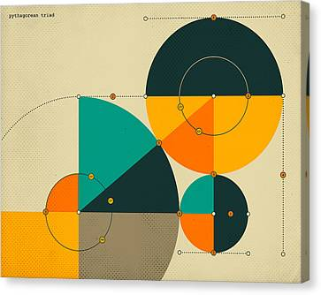 Pythagorean Triad Canvas Print by Jazzberry Blue