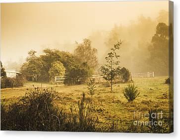 Quaint Countryside Scene Of Glen Huon Canvas Print by Jorgo Photography - Wall Art Gallery