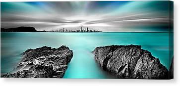 Quantum Divide Panorama Canvas Print by Az Jackson