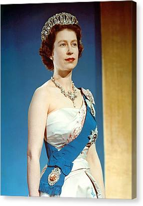 Queen Elizabeth II, Coronation Canvas Print by Everett