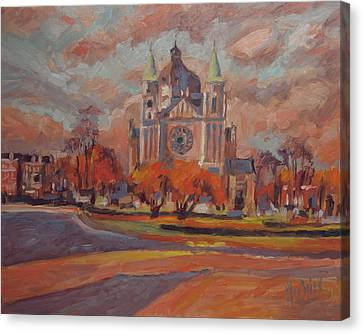 Queen Emma Square In Autumn Colours Canvas Print by Nop Briex