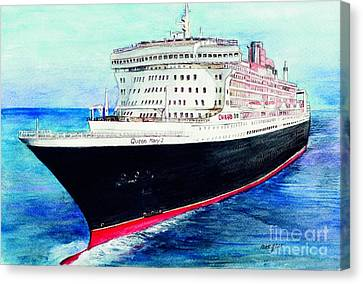 Queen Mary 2 Canvas Print by Morgan Fitzsimons