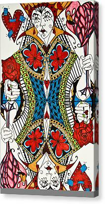 Queen Of Hearts Canvas Print by Jani Freimann
